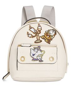Disney By Danielle Nicole Mila Mini Beauty And The Beast Backpack with Patches | macys.com