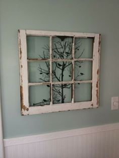 design old windows ideas decorating for best recycled on window frame wall decor idea Deco Champetre, Diy Casa, Window Art, Room Window, Faux Window, Dining Room Walls, Old Doors, Home Projects, Old Window Projects