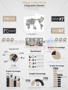 stock illustration of retro infographic demographic world map elements 2 brown
