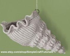 Crochet Sea Shell Basket PDF Pattern by SimpleCraftTutorials