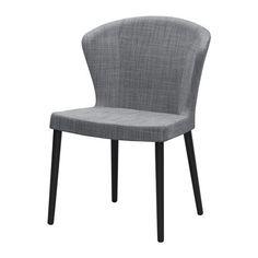 IKEA - ODDMUND, Stoel, Door de voorgevormde rugleuning zit je comfortabel.