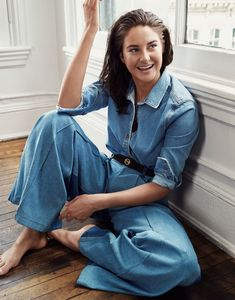 Shailene Woodley Keeps It Casual in Denim for The Edit