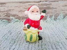Ceramic Santa Claus figurine. Isn't he a cutie?