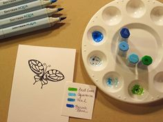 Kendra's Card Company: Butterfly Two-Ways with Spectrum Aqua Markers