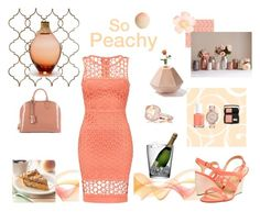 """""""So Peachy"""" by erojas-1 ❤ liked on Polyvore featuring Holly's House, Kate Spade, Essie, Louis Vuitton, Lancôme, Michael Kors, Utopia & Utility, Tony Moly and LSA International"""