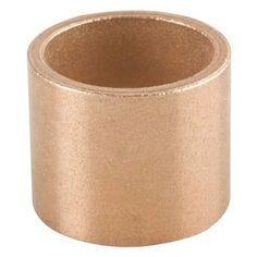 "Bunting Bearings ECOP101410 ECO Oiled, Sleeve (Plain) Bearing, Powdered Metal, SAE 841 5/8 "" Bore x 7/8 "" OD x 5/8 "" Length (3 Pack)"