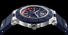 Bvlgari Diagono, Watch The Originals, Italian Jewelry, High Jewelry, Watch Brands, Chronograph, Rolex Watches, Product Launch, Blue