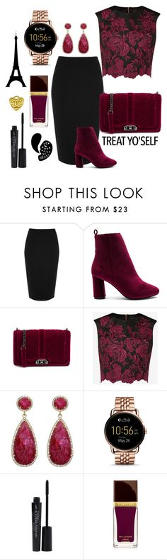 Untitled #74 by alaasalah on Polyvore featuring Ted Baker, River Island, Raye, Rebecca Minkoff, FOSSIL, Susan Hanover, Smashbox and Tom Ford follow instagram @glamour_instagram_