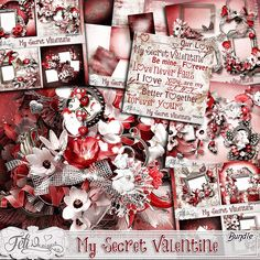 Personal Use :: Bundled Deals :: My Secret Valentine - Bundle (PU/S4H) by Feli Designs now on sale at 60% off and the Kit only at 25% off at The Studio. Coordinating products are also sold in separate packs