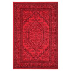 "Safavieh Aldwin Area Rug - Red/Black (5'1""x7'6"")"