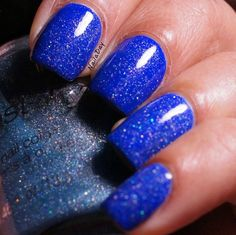 NailaDay: Sinful Colors Endless Blue with Wet n Wild Blue Wants to be a Millionaire