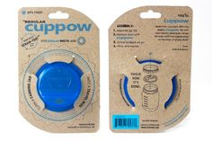 Original Cuppow Regular - Drinking Lid for Regular Mouth Canning Jar! - Blue