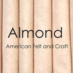 Almond felt Just Love, Craft Supplies, Almond, Felt, My Favorite Things, Pattern, Crafts, Wool Blend, Long Hair
