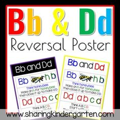 I saw this tip that can help student who are reversing letters Bb and Dd. A friend asked me for a poster. So I am sharing this with you!Enjoy.byMary AmosonSharing KindergartenSharing Kindergarten Facebook