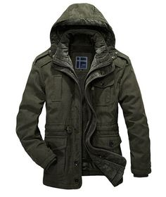 Warm Parka wool and organic cotton material