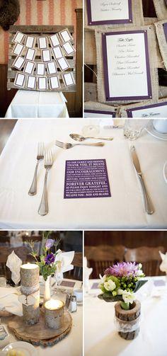 burlap and purple wedding   Rustic Purple & Green Wedding in Calgary   Wedding Obsession ...