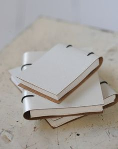 recycled leather notebooks.