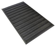 Wave Scraper Commercial Entrance Mat, Anti Fatigue Rubber Floor Mat 3' x 5' Feet. For product info go to:  https://www.caraccessoriesonlinemarket.com/wave-scraper-commercial-entrance-mat-anti-fatigue-rubber-floor-mat-3-x-5-feet/