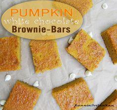 How to Make Pumpkin, White Chocolate Brownies