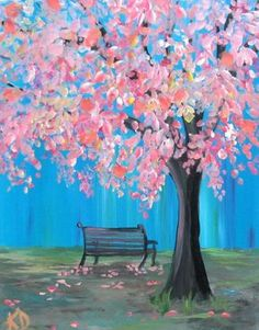 Pink Cascade in the Park https://www.amazon.com/Painting-Educational-Learning-Children-Toddlers/dp/B075C1MC5T
