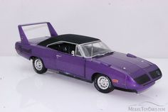 Based on the Plymouth Road Runner, the Superbird was designed to fly on the high banks of super speedways. Description from modeltoycars.com. I searched for this on bing.com/images