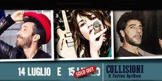 Arriva il primo sold out per Silvestri-Consoli-Gazzè al Festival Collisioni