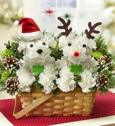 Our a-DOG-ables are getting in the Christmas spirit! Santa Paws™ and and His Best Reindeer™ are the perfect dog flowers to wish someone special a Merry Christmas!