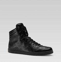 Gucci all black high tops