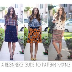 A Beginner's Guide to Pattern Mixing Helpful Tips!) {great tips for styling Lularoe patterns! Mixing Prints, Mixing Patterns, Pattern Mixing Outfits, Lula Roe Outfits, Mode Inspiration, Retro, Get Dressed, Pattern Fashion, Spring Summer Fashion