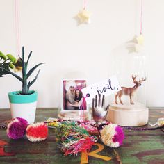 Love the idea of the bell jar as a photo frame - Eat Drink Chic