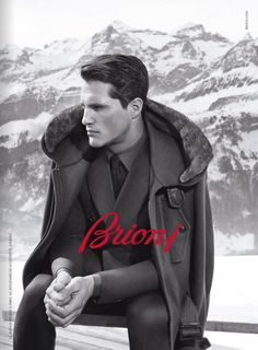 Ollie Edwards shot in Switzerland by Collier Schorr for the Brioni Fall Winter 2013-2014 Campaign