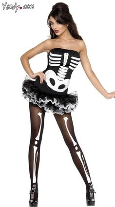 ☠ Skeleton Corset And Tutu i'd wear it to the winterball :D