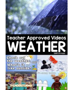 A great resource if you are teaching a weather themed unit this spring with primary school kids! Kindergarten Science, Elementary Science, Science Classroom, Teaching Science, Elementary Teaching, Science Fun, Kindergarten Reading, Physical Science, Preschool Learning