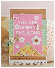 LOVE the mix of elements here! And why don't I use my Martha doily border punch more often??