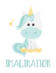 Items similar to Unicorn Believe Magic Imagination Print on Etsy Unicorn Poster, Unicorn Print, Illustrations, Illustration Art, Princess Room Decor, Unicorn Quotes, Real Unicorn, Picture Icon, Cute Images