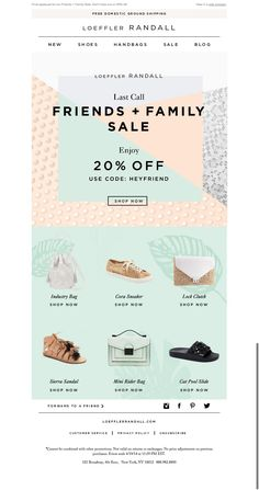 #newsletter Loeffler Randall 04.2015 Eleventh Hour! Friends Family Sale