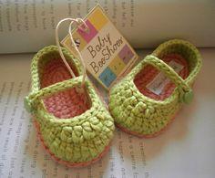 Baby girl shoes  crochet purple ballerina by Melimebabybeeshop, $20.00