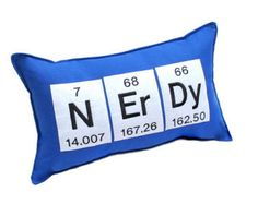 Nerdy Periodic Table Elements Pillow