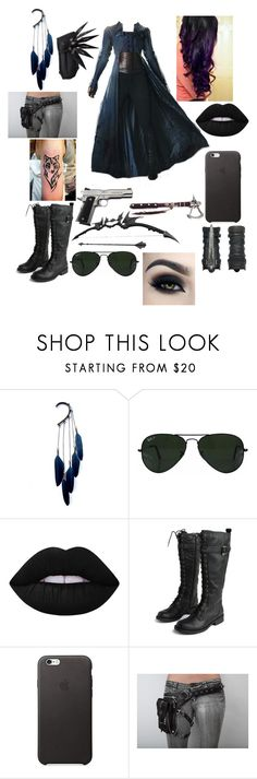 """""""Untitled #155"""" by savedbybands ❤ liked on Polyvore featuring Anni Jürgenson, Ray-Ban, Lime Crime, Too Faced Cosmetics, Kenneth Cole Reaction and Holster"""