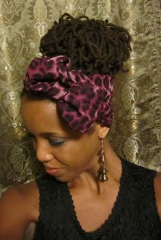 loc hairstyles with scarves | ... Styles, 29 Days, $29 A Sculpted Style For Micro Locs Braided Natural