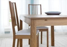 BJURSTA/BÖRJE table and 4x chairs dining set £310
