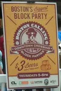 Downtown Crossing Block Party Every Thursday Night this summer from 5-8pm block parti