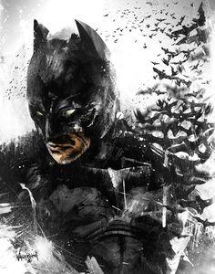 The Dark Knight Rises... So Do His Bats.  by Fresh Doodle - JP Valderrama