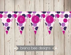 Instant Download  Printable Pennant Bunting by brenabeedesigns, $6.75