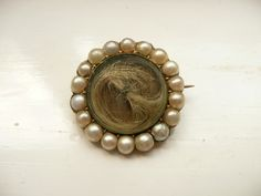 ~ Mourning Brooch With Blond Hair ~