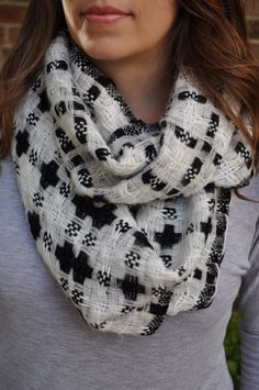 We LOVE scarves. This one goes with everything!