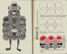 New Tangle Pattern Circle-In/Rhodia Journal Swap #zentangle « lifeimitatesdoodles
