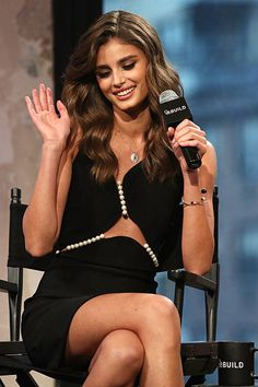 Taylor Hill attends AOL BUILD Series Victoria's Secret Angels Behati Prinsloo And Taylor Hill at AOL Studios In New York on December 7 2015 in New...