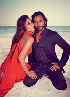 Bollywood's hot couple Kareena Kapoor Khan and husband Saif Ali Khan, who celebrate their first wedding anniversary this month, are on the cover of Harper Bazaar and the new Mr and Mrs Khan surely set the temperatures soaring this issue. (This image was posted on Facebook by Bollywood's Biggest Fans Club - BBFC)
