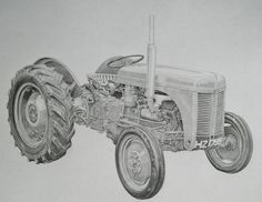 Pencil Portrait of Massey Ferguson Tractor, Drawn from photos emailed to me, please visit my Facebook page for more info. Price for an A3 portrait like this £250.00  Framed Prints of this drawing are also available for £17.95 including postage http://www.facebook.com/pencilartportraitstudio